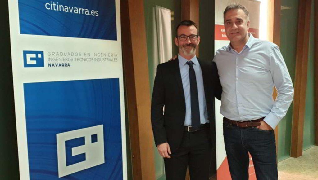 David Romay de Zanotti Appliance con el secretario técnico de Navarra, Antonio Rodríguez.