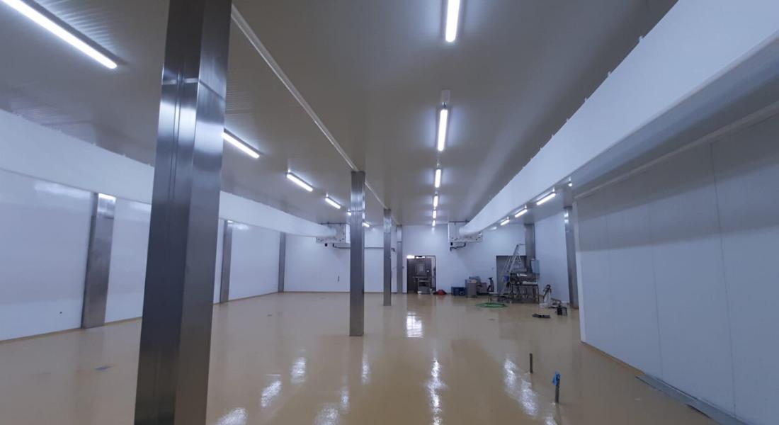 Sala obrador con conducto textil para fábrica de pan