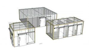 planos 3D proyecto de refrigeracion Zanotti con camaras modulares Boxcold