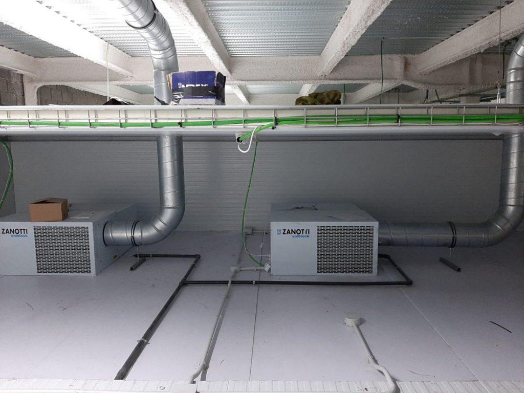 Unidades compactas de techo Zanotti gama SB