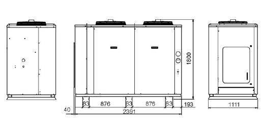 Dimensiones unidad condensadora Zanotti GCU