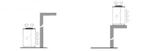 Instalación sobre suelo o sobre plataforma de una unidad condensadora Zanotti