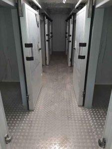 Cámaras de congelación de las cocinas del hotel Los Fariones en Lanzarote