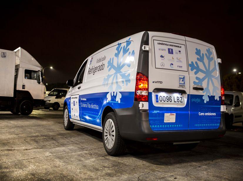 Nueva furgoneta Mercedes refrigerada eléctrica cero emisiones