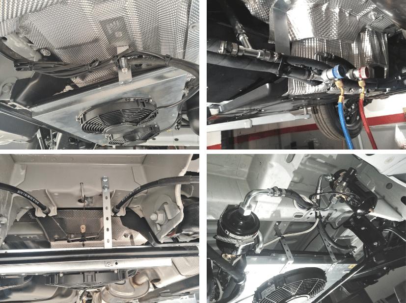 Montaje del equipo oculto FZ009 Zanotti en vehículo de flota de reparto de los supermercados Hiperdino