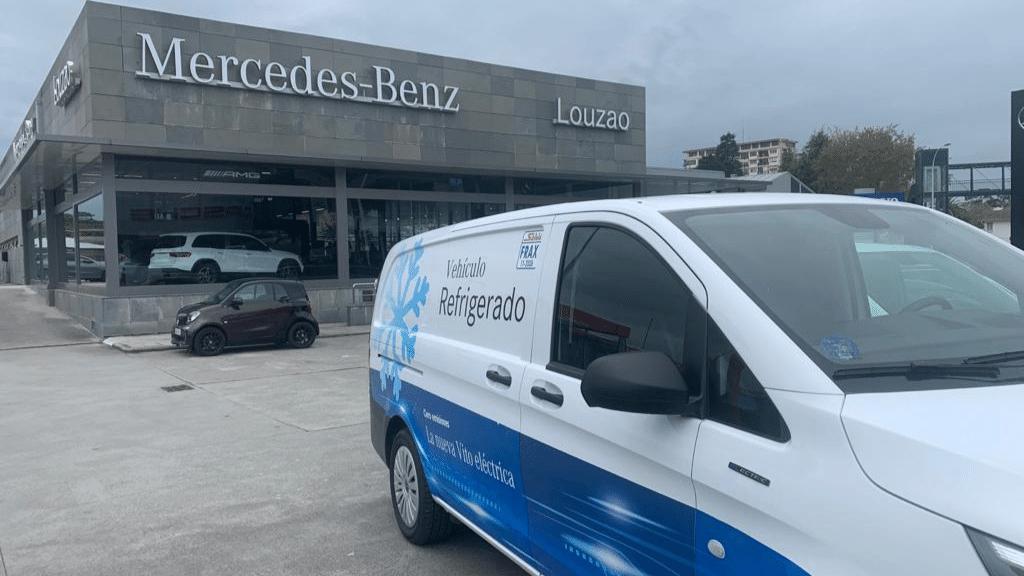 roadshow en Galicia con la nueva furgoneta eVito Mercedes isotermo refrigerada Zanotti