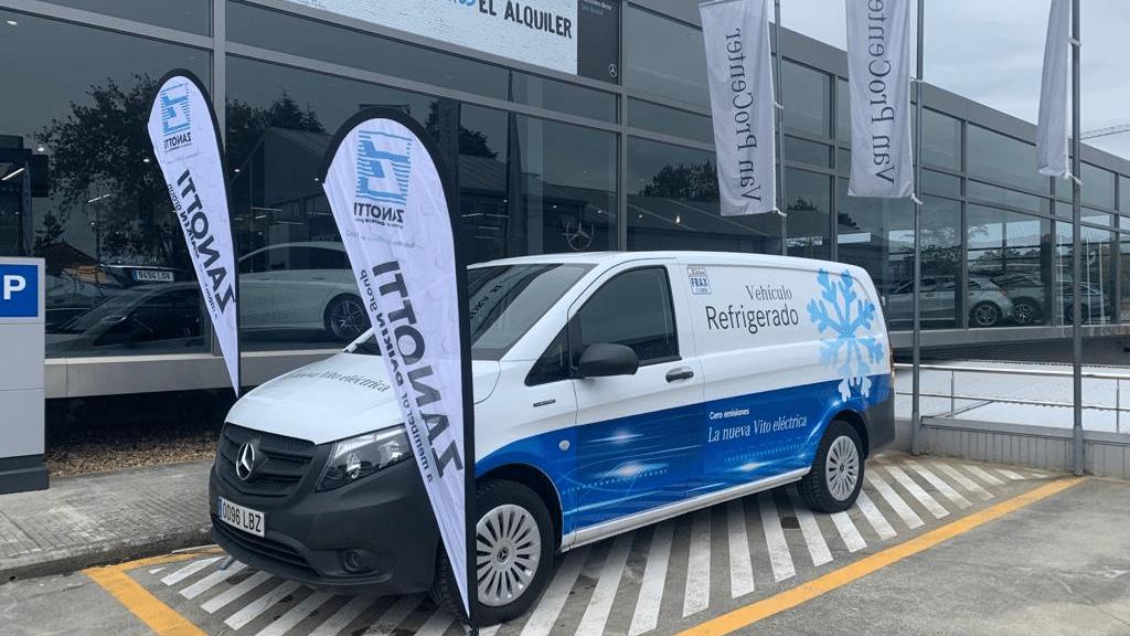 roadshow Mercedes Zanotti en Galicia con nueva eVito isotermo refrigerado cero emisiones