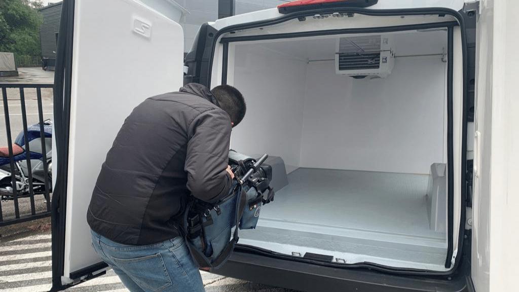 roadshow Galicia nueva eVito Mercedes Benz refrigerada eléctrica con Zanotti