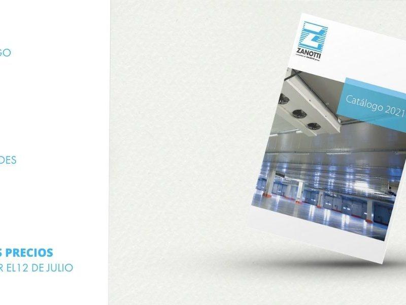 Portada del nuevo catálago Zanotti 2021 de refrigeración fija