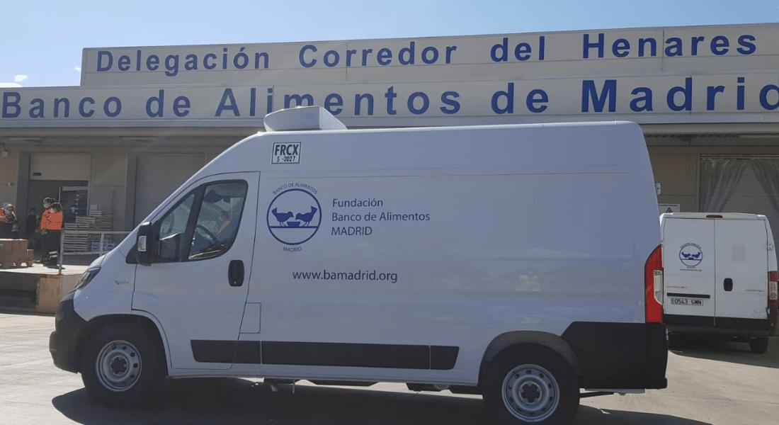transporte refrigerado es clave. Furgoneta con Zanotti en el Banco de Alimentos de Madrid